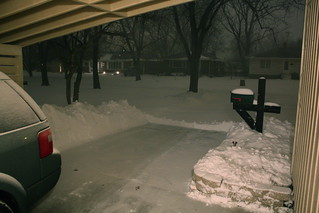 Snow at 8:20pm, gave up on shoveling. | by anneh632