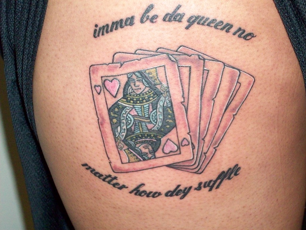 Cards Tattoo Queen Of Hearts Tattoo By Ole From Coffin C Flickr