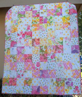 pink floral baby quilt | by LizTaylorHandmade {clairesmama}