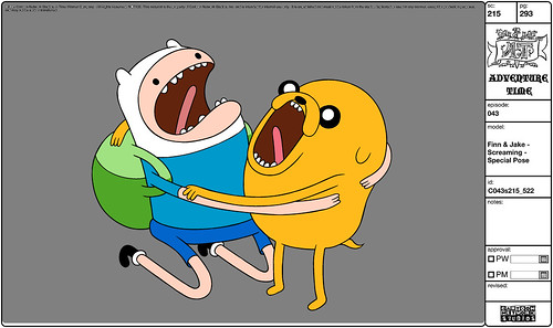 Finn & Jake - Screaming - Special Pose | by Fred Seibert