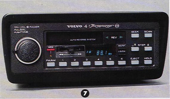 Volvo 240 Radio - Volvo Microprocessor Amfm Radiocassette By Macplaxton - Volvo 240 Radio