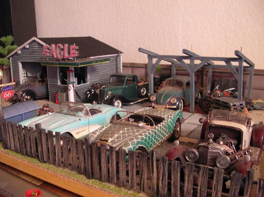 diorama junk yard 1 18 | junk yard und garage an der route 6… | Flickr