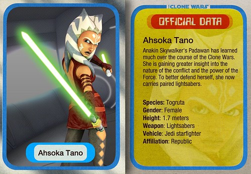 Clone Card Data- Ahsoka Tano | by Commander Gabe