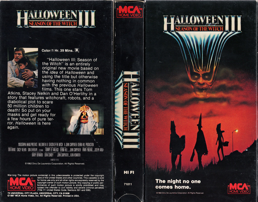 HALLOWEEN III SEASON OF THE WITCH (VHS Box Art) | monsterbra… | Flickr