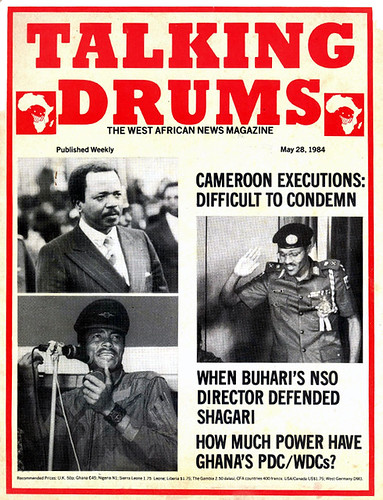 talking drums 1984-05-28 Cameroon executions - Buhari - Ghana's PDC-WDCs | by amaah