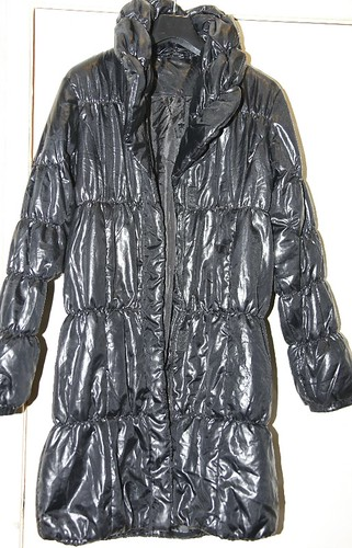 Student throw away: long ladies nylon padded coat | by longyman