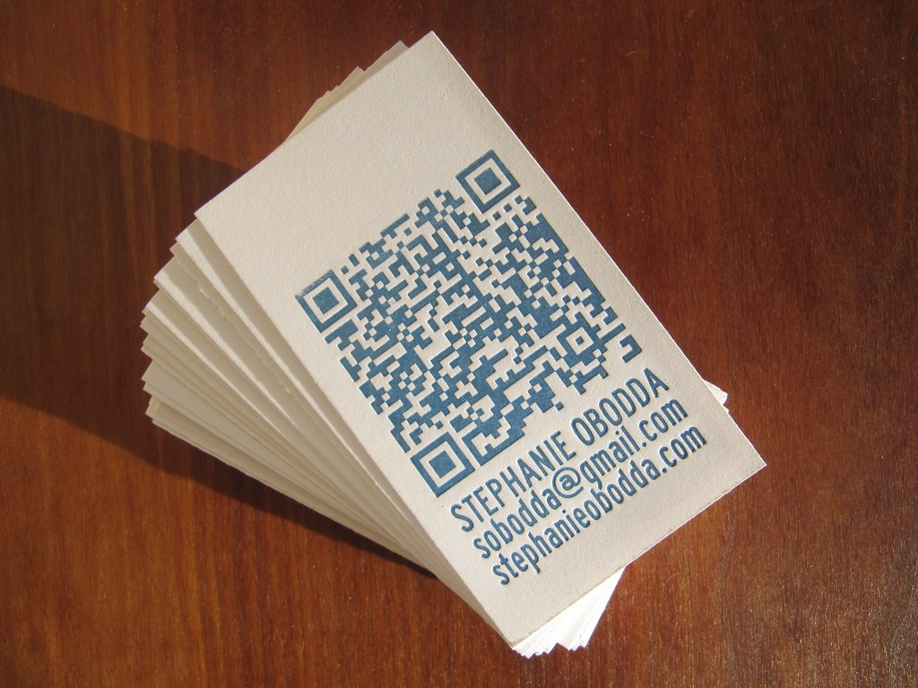 Letterpress Business Cards With Qr Code Now I Just Have To Flickr