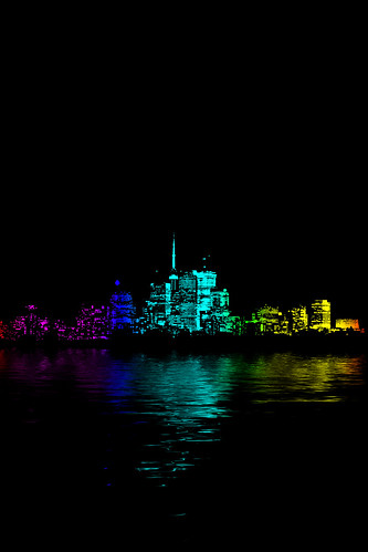 Toronto Skyline Gradient Flood | by thelearningcurvedotca