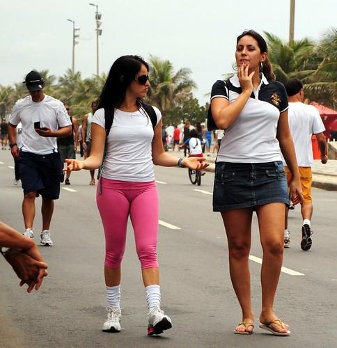 Ladies Walking In The Street  Street Scene  Sunday -4041