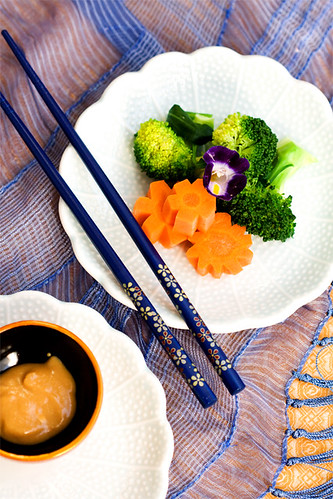 steamed vegies with miso dressing.... | by anhsphoto_busy!!