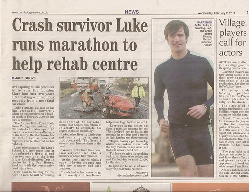 Luke's running the London Marathon | by warranty void