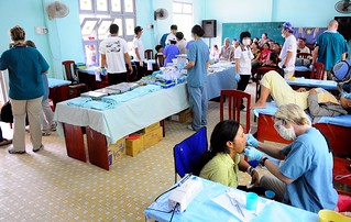 Vietnamese citizens receive dental care during service project. | by Official U.S. Navy Imagery