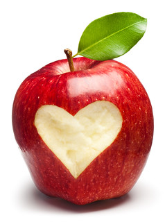 Red Apple with heart | by peggylmalone