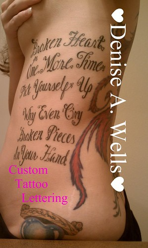 tattoo lettering fonts lyrics lettering design by a so 12515 | 5497902214 600901c0ec