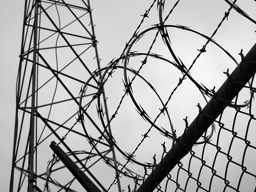 Concertina Wire & Tower | by Steve Snodgrass