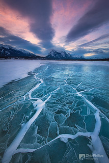 Abraham Lake Winterscape | by Chip Phillips