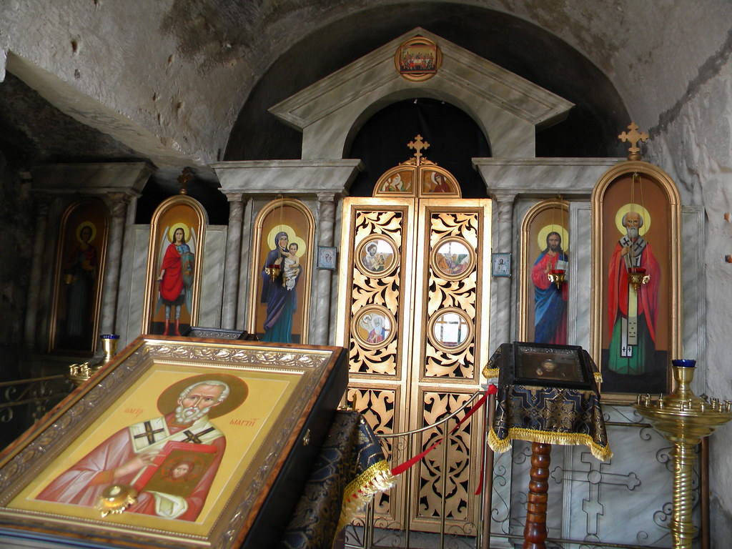 St Clement cave monastery: interior - Пещерный монастырь святого Климента: интерьер