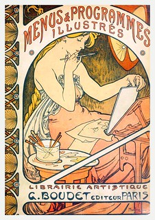 Cover by Mucha of Les Menus & Programmes Illustrés | by Double--M