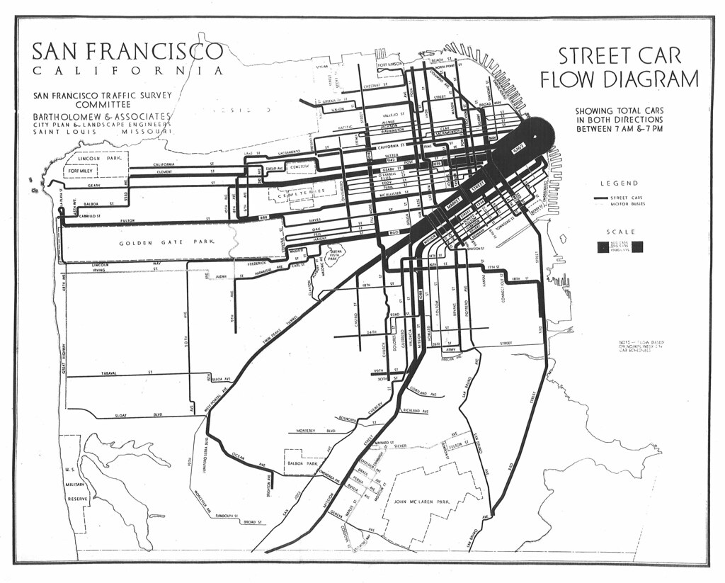 Ca Flow Chart: Street Car Flow Diagram (1928) | From Major Streets San Franu2026 | Flickr,Chart