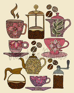 Have a cup of coffee | by valentinadesign