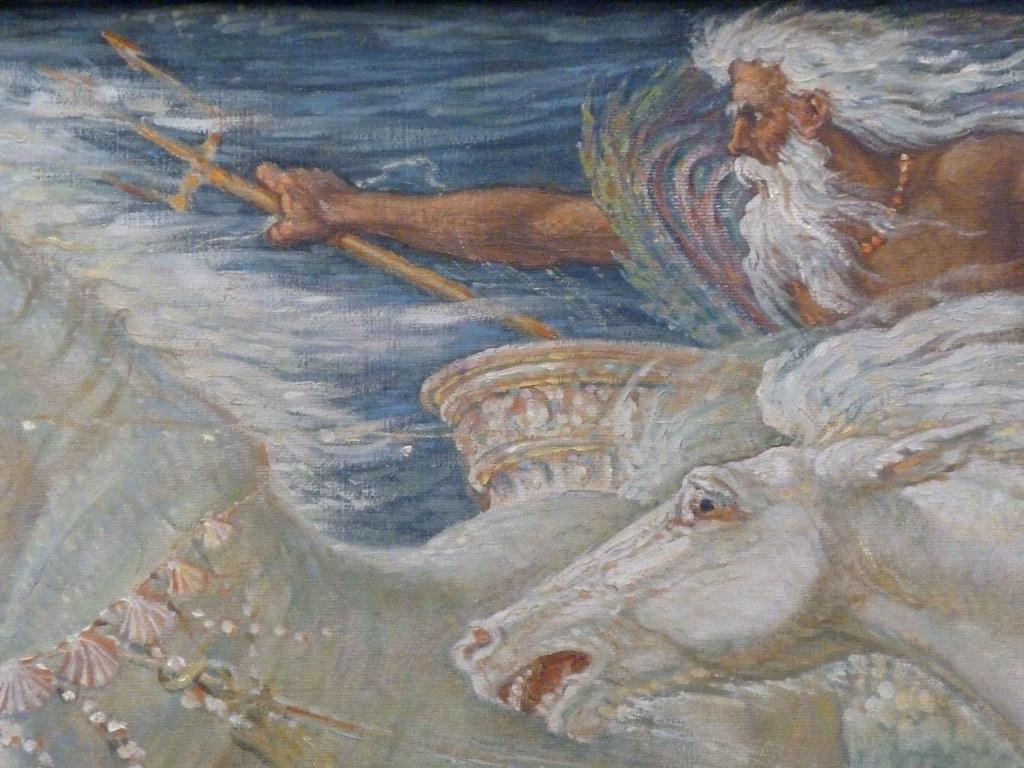 The Horses Of Neptune Acrylic Print by Walter Crane