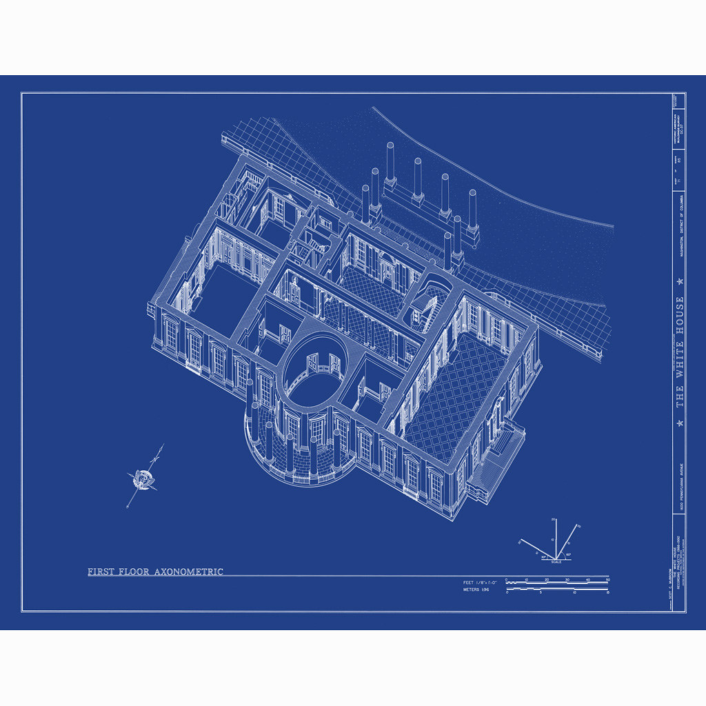 White house blueprint from oldblueprints flickr white house blueprint by oldblueprints malvernweather Gallery