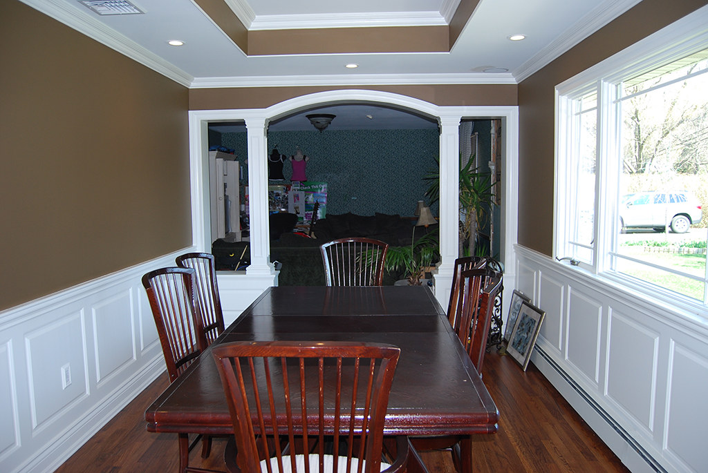 ... Wainscoting Panel Beaded Raised Panel Dining Room Oakdale Long Island  NY New York Wainscoting America 7735