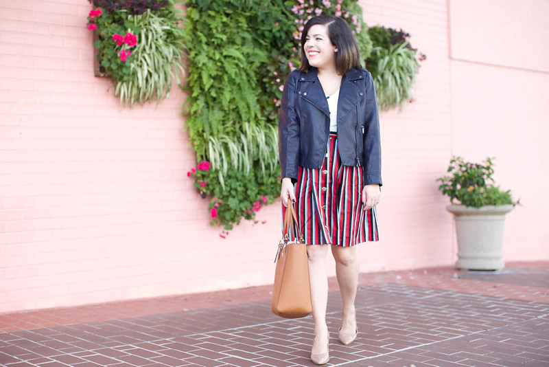 Head to Toe Chic-striped dress-@akeeleywhite