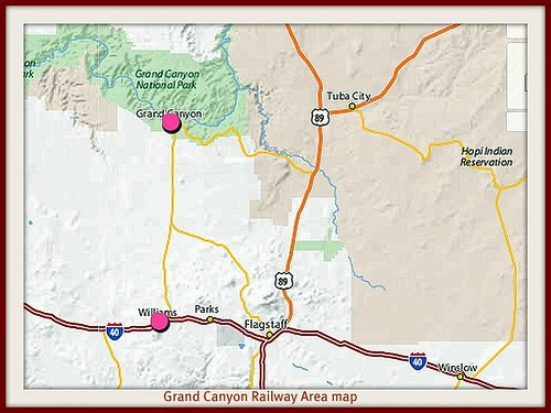 Grand canyon railway group area map | by Loco Steve