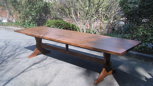 10 foot long pine harvest table taylormadepomo flickr for 10 foot long table