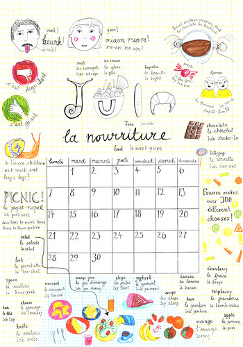 My french Calendar, 'Juin' | by louisestockton