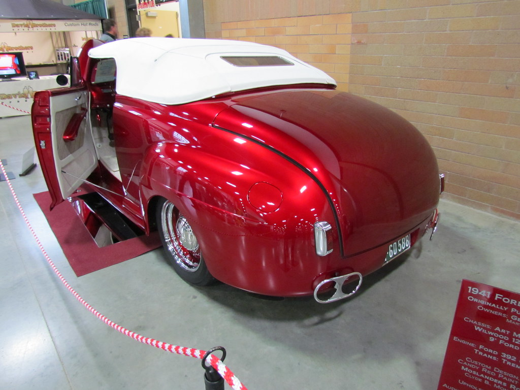 1941 Ford Convertible Bballchico Flickr Coupe Red By