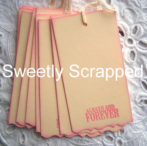 ALWAYS AND FOREVER Pink and Cream Hang Tags - Vintage Inspired - Shabby | by sweetlyscrapped
