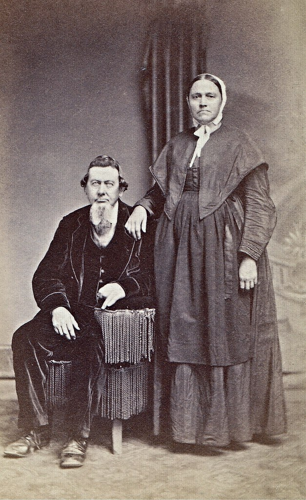Christian And Mary Shouk Albumen Carte De Visite Circa 1867
