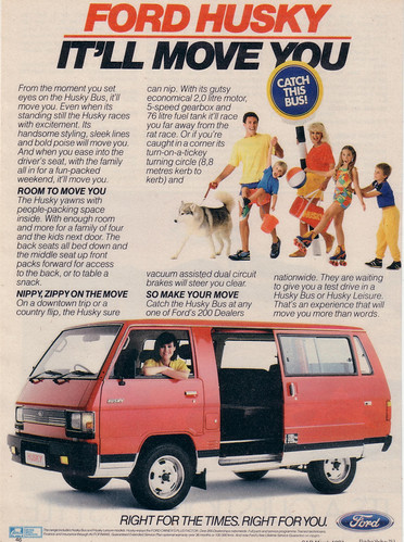 1987 Ford Husky Van Ad (  Mitsubishi L300 Van ) - South Africa | by Five Starr Photos ( Aussiefordadverts)