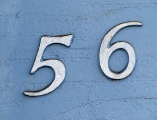 No 56 - white on blue | by kirstyhall