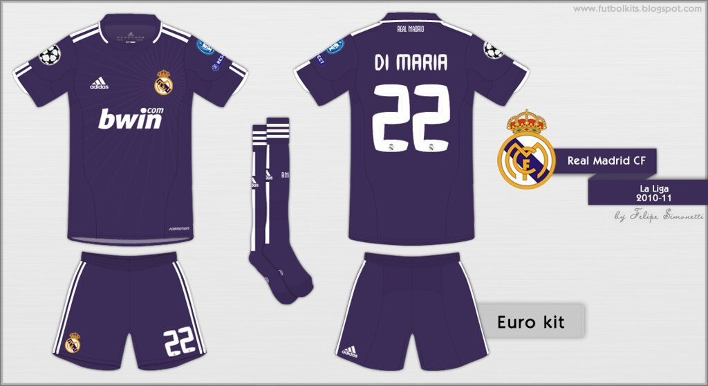 on sale 60b76 97856 Real Madrid CF - Champions League 2010/11 away kit | Flickr