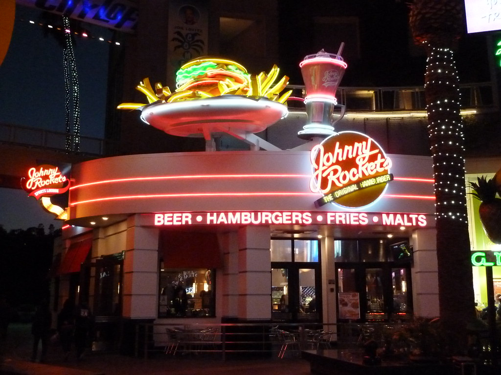 Johnny Rockets Restaurant Universal Citywalk Hollywood A Flickr