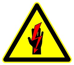 Warning - Shock Hazard with Hand