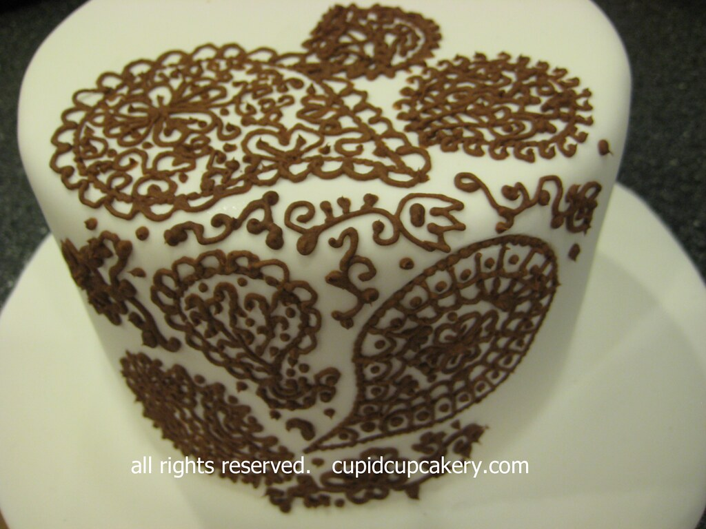 Henna Cake Design Detail By Cupid Cupcakery I Took A Henna Flickr