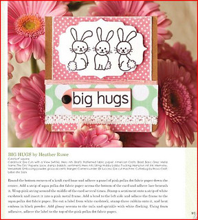 Published Big Hugs/Bunny Card | by Heather Ruwe