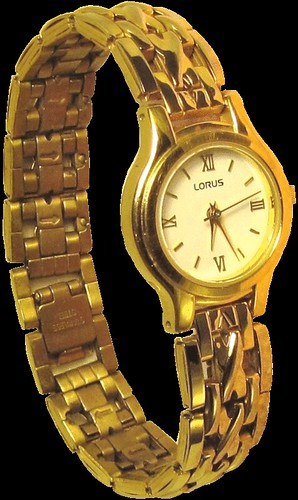 Gold wrist watch clip art lge 12cm | by you get the picture