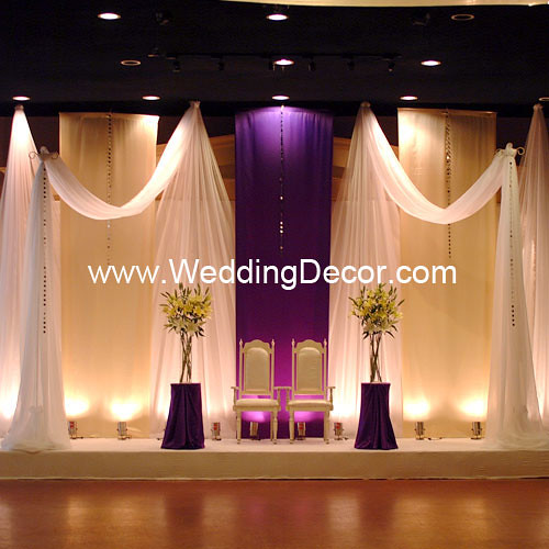 Wedding Backdrop - Royal Purple & Ivory   A royal purple and…   Flickr