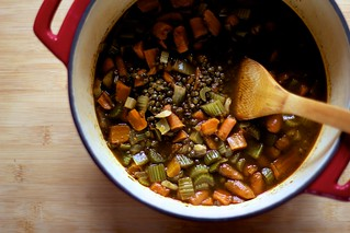 Spicy Roasted Garlic & Lentil Soup | by Gemma E. Petrie