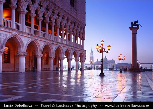 Italy - Venice - Dawn - New Day Starts at Piazza San Marco and the Doge's Palace | by © Lucie Debelkova / www.luciedebelkova.com