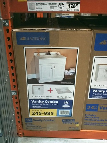 Home Depot Vanity  Inches Wide