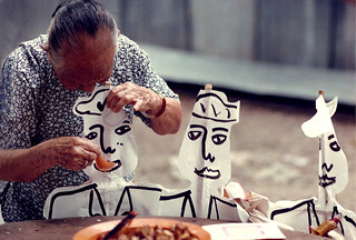 3071 Feeding paper figurines--Air Panas Village , Malaysia | by ngchongkin