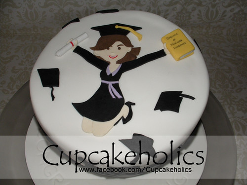 Graduation Cake - Top View | by Cupcakeholics