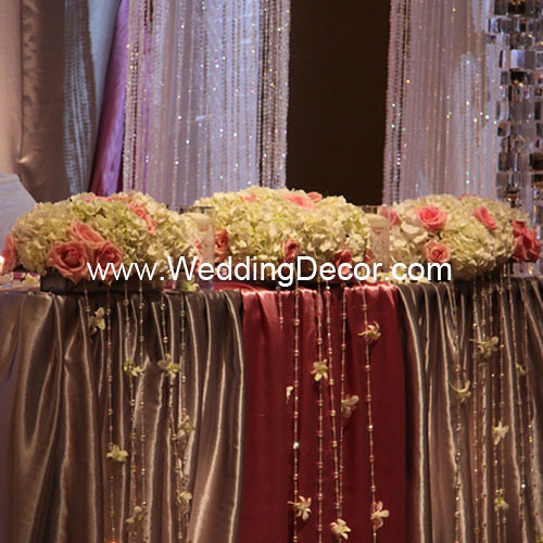 Wedding Reception Head Table Decoration Ideas: Head Table Decorations - Dusty Rose & Silver