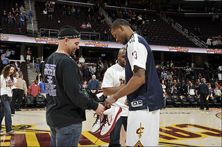 Alonzo Gives His Game Shoes to a Fan After the Last Game of the 2010-11 Season | by Cavs History